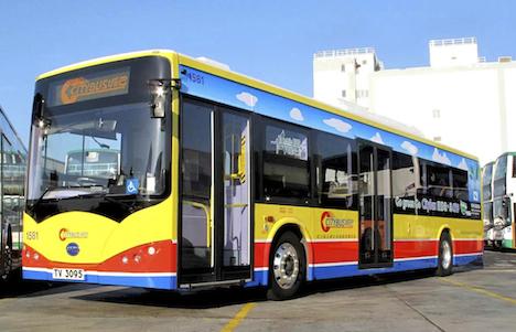 香港の路線バスで中国製EV車両試験導入スタート=16年までに36台、政府が購入費用28億円全額補助