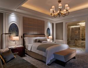 プレミアスイートのベッドルーム