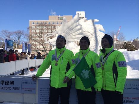さっぽろ雪まつりの国際雪像コンクール、マカオ代表チームが初参加で準優勝
