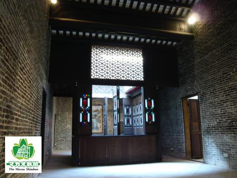 マカオの世界遺産・盧家屋敷の建物内部(資料)—本紙撮影