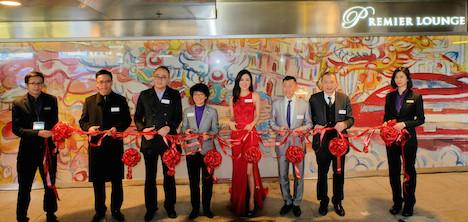 ターボジェットがプレミアラウンジ開設=香港・上環のフェリーターミナル内