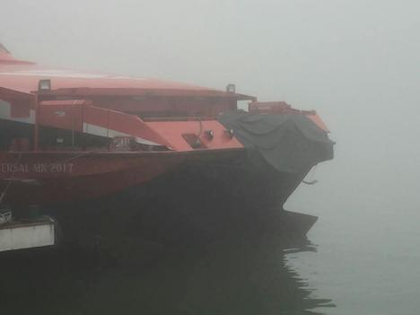 香港とマカオ結ぶ海上橋に高速船が衝突…負傷者なし=濃霧影響