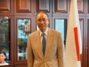 松田邦紀駐香港日本国総領事(大使)=2015年10月、在香港日本国総領事館にて本紙撮影