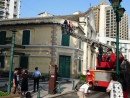 天井崩落事故直後の世界遺産・聖オーガスチン教会=5月29日(写真:ICM)