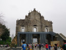 聖ポール天主堂跡の前壁背面部(資料)-本紙撮影