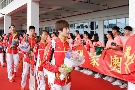 リオ五輪で活躍した中国のメダリストらがマカオ訪問=各界から1.8億円の報奨金も