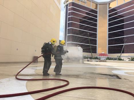 マカオの新カジノIRウィンパレスで消防訓練実施…いよいよ開幕間近