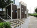 市街地中心部にあるジョルジュ・アルヴァレス公園に新設された公衆トイレ(写真:IACM)