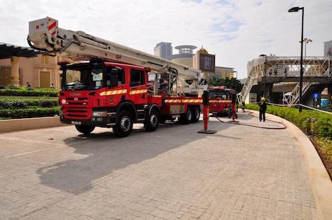 レジェンドパレスホテルで消防訓練実施…いよいよ開幕間近=マカオフィッシャーマンズワーフ内の新5つ星カジノホテル