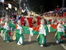 マカオの春節パレードに日本代表として参加したYOSAKOIソーランチーム新琴似天舞龍神=1月30日(写真:GCS)