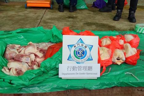 マカオ当局、旧正月前に密輸食材取り締まり実施