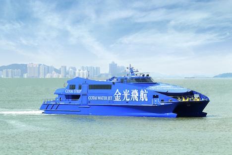 コタイウォータージェットが全機材のエコノミークラスで無料Wi-Fi提供へ=香港とマカオ結ぶ高速船