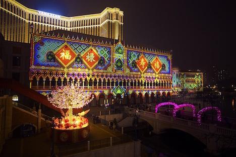 ヴェネチアンマカオ「福臨金沙-大型プロジェクションマッピングショー」(写真:The Venetian Macao)