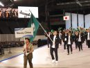 2017冬季アジア札幌大会開会式に臨むマカオ選手団=2月19日、札幌ドーム(写真:マカオ政府体育局)