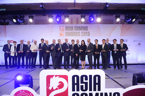 第1回「アジアゲーミングアワード2016」表彰式の様子(資料)=2016年5月17日(写真:Galaxy Entertainment Group)