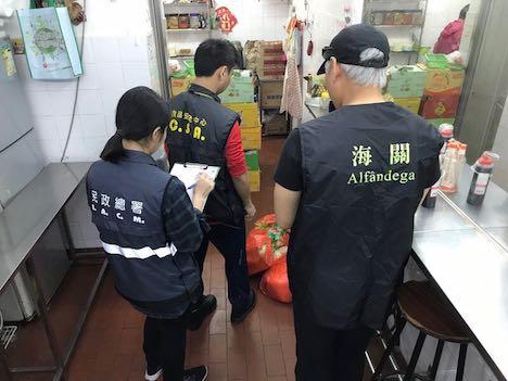マカオ税関、密輸食材使用のレストラン7軒摘発