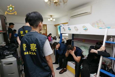 マカオ、無認可宿泊施設3軒摘発…経営者と客すべて中国人