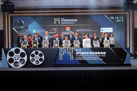 第2回マカオ国際映画祭キックオフ記者会見=2017年6月16日、マカオタワー(写真:IFFAM実行委員会)