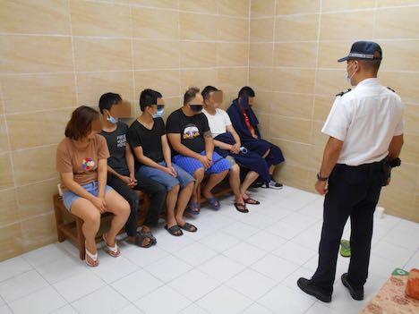 マカオ税関、コロアン島で蛇頭2人と密航者4人を検挙