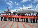 マカオ国際空港で開催された首都航空のマカオ〜北京線開設記念セレモニー(写真:CAM)