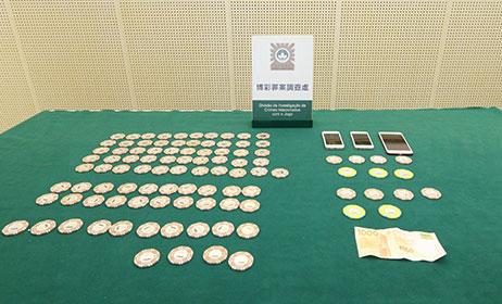 マカオ・コタイ地区のカジノで偽造高額チップ大量に見つかる…中国人2人逮捕