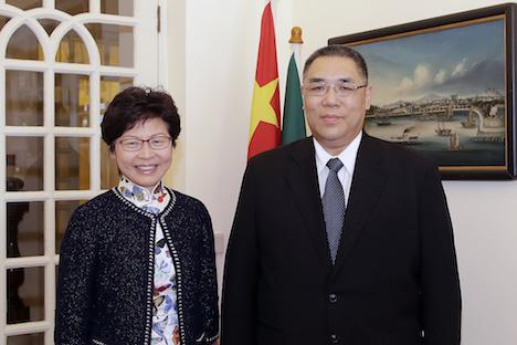 香港とマカオの行政長官がマカオで会談…相互補完的協力強化など議題に