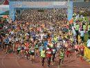 昨年の第35回「ギャラクシーエンターテイメント杯マカオ国際マラソン2016」に1万人のランナーが参加した(資料)=2016年12月4日、マカオ・タイパ島(写真:MSDB)