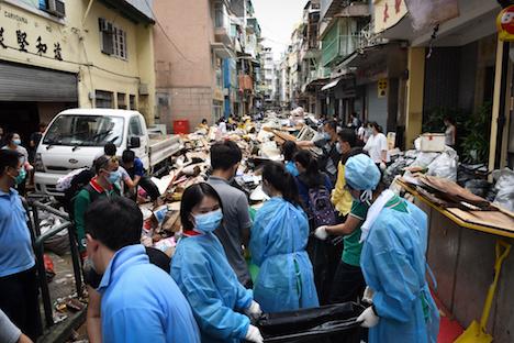 マカオに甚大な被害もたらした台風13号…推計経済損失額は約1553億円