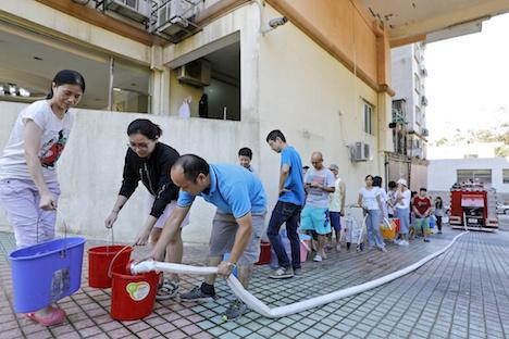 台風13号で被災のマカオ、政府系基金が1戸あたり約2万8000円分の電気・水道代補助金支給