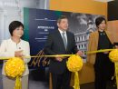 郵政儲金局設立100周年記念展のオープニングセレモニーの様子=2017年9月21日、タイパ島・カルモ郵便局(写真:GCS)