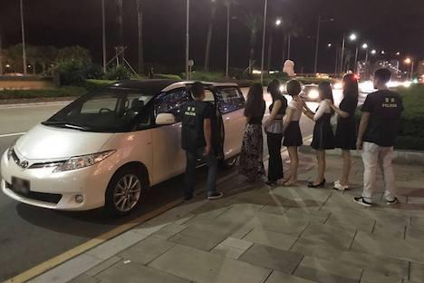 マカオ警察、カジノIRが建ち並ぶコタイ地区で違法売春取り締まり実施