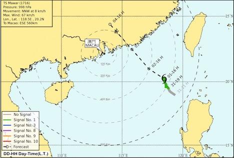 台風16号が9月3日に香港・マカオへ接近見込み…直近2週間で3つ目=現地日本総領事館が在留邦人に注意喚起