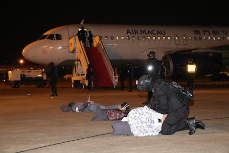 マカオ国際空港でハイジャック対策訓練実施