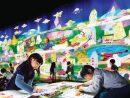 チームラボ「未来の遊園地」のアートアトラクション「お絵かきタウン」(写真提供:MGM Macau (c) teamLab,Inc. )