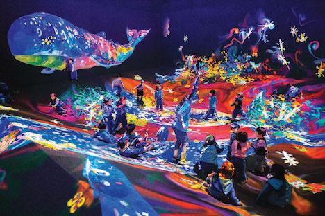 中華圏初登場となるアートアトラクション「グラフィティネイチャー - 山と谷」(写真提供:MGM Macau (c) teamLab,Inc. )