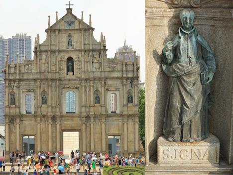 マカオの世界遺産・聖ポール天主堂跡壁面の銅像、約400年来初の修復に着手=フランシスコ・ザビエル像など