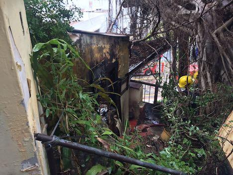 マカオの文化財「漁翁街天后廟」のプレハブ小屋で火災…少量の仏像など被害