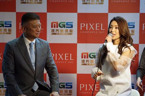 酒井法子さんがマカオの国際カジノ見本市「MGSエンターテイメントショー」イベント出演
