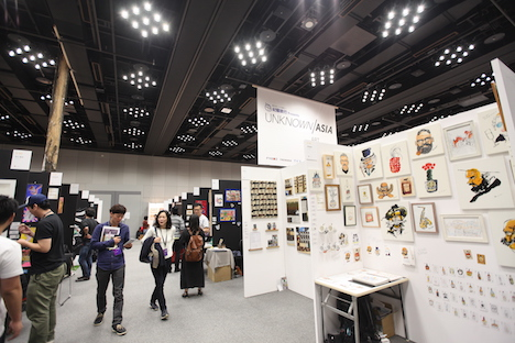 「UNKNOWN ASIA Art Exchange Osaka 2017」会場の様子(写真:UNKNOWN ASIA)