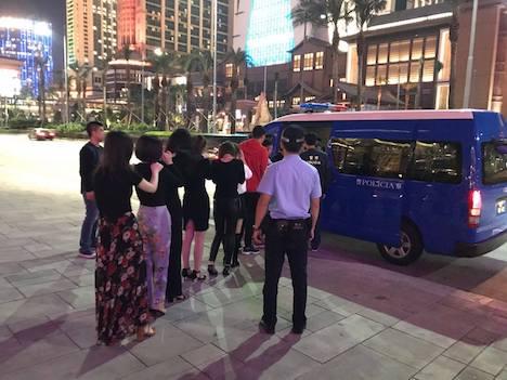 マカオ警察、カジノIRが建ち並ぶコタイ地区で違法売春取り締まり実施…中国本土出身の男女9人の身柄拘束