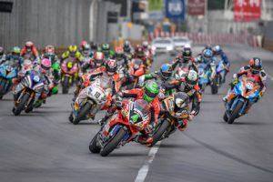 第64回マカオグランプリ3日目に開催された第51回マカオモーターサイクルグランプリ決勝レース(写真:GCS)