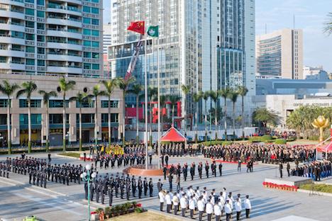 マカオ返還記念日、中国復帰18周年