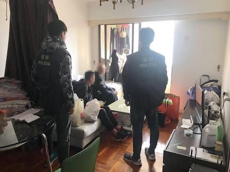 マカオ警察、マカオ半島上海街一帯で無認可宿泊施設に対する取り締まり実施