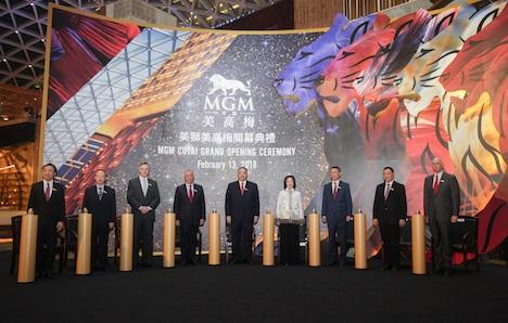 「MGMコタイ」グランドオープニングセレモニー=2018年2月13日(写真:MGM China Holdings Limited)