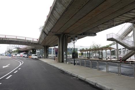 マカオ外港フェリーターミナル前の新しい公共路線バス乗り場(写真:DSAT)