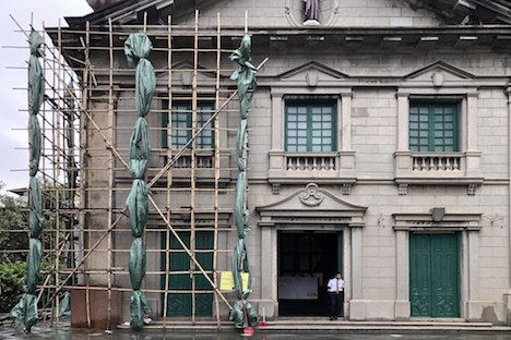 台風22号の影響で外壁の一部が破損した世界遺産「聖アントニオ教会」。すでに一般公開を再開している(写真:ICM)