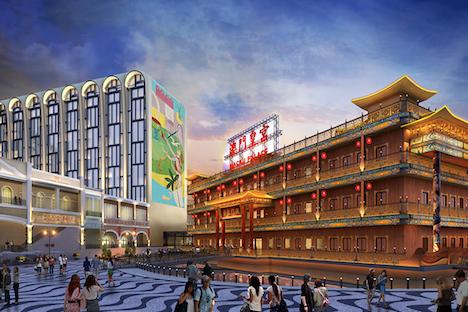 マカオ・コタイ地区に2020年オープン予定の新統合型リゾート「リスボエタ」イメージCG(写真:Macau Theme Park and Resort Limited)