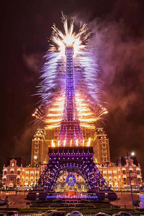 ザ・パリジャン・マカオ内「エッフェル塔」のカウントダウンイベントのイメージ(写真:Sands Resorts Macao)