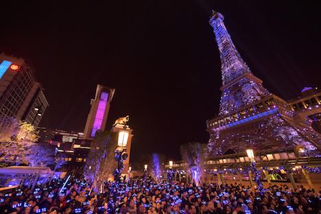 パリジャンマカオで開催されるカウントダウンイベントのイメージ(写真:Sands Resorts Macao)