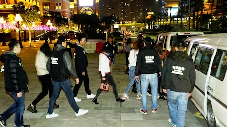 マカオ・コタイ地区における違法売春取り締まりで身柄を拘束された中国本土出身の女ら=2019年1月24日(写真:マカオ司法警察局)